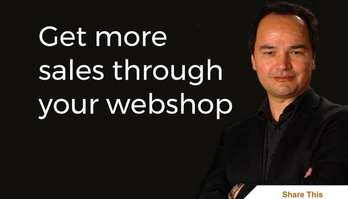 Get more sales through your webshop