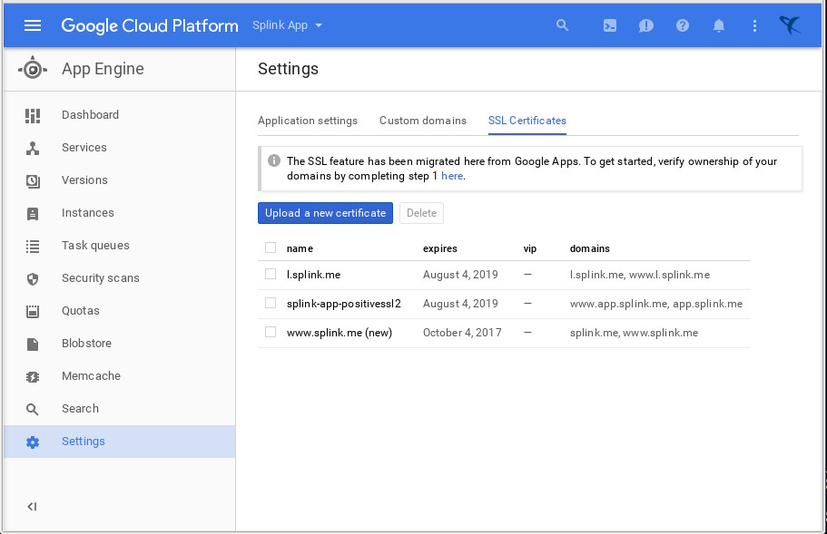 Google App Engine SSL